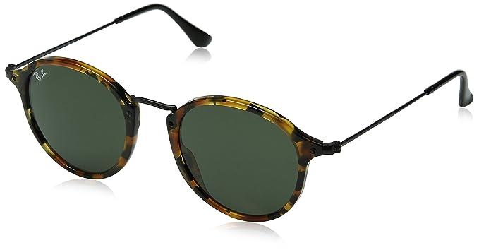 30f689b5c Ray-Ban Men's 0RB2447 Square Sunglasses, Spotted Black Havana & Green, ...