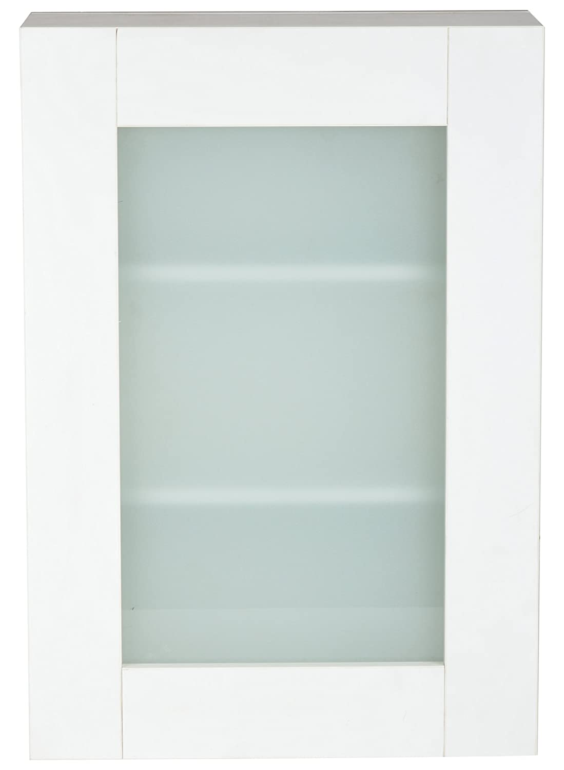 Sakshi Enterprises PVC Bathroom Cabinets with Frosted Glass(White ...