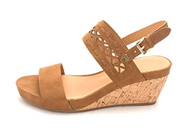 dc197c8e Tommy Hilfiger Womens Jenesis Open Toe Casual Platform, Medium Brown, Size  10.0