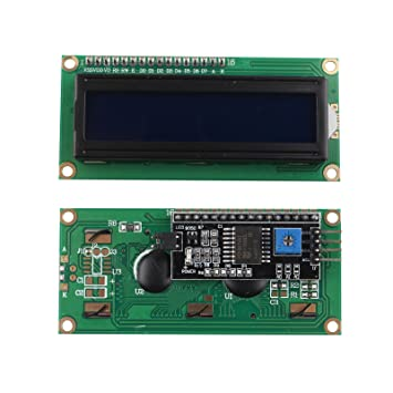 HALJIA 5V IIC/I2C LCD Module 1602 16x2 Serial HD44780 Character LCD Board  Display with White on Blue Backlight for Arduino UNO R3 MEGA2560 Nano Due