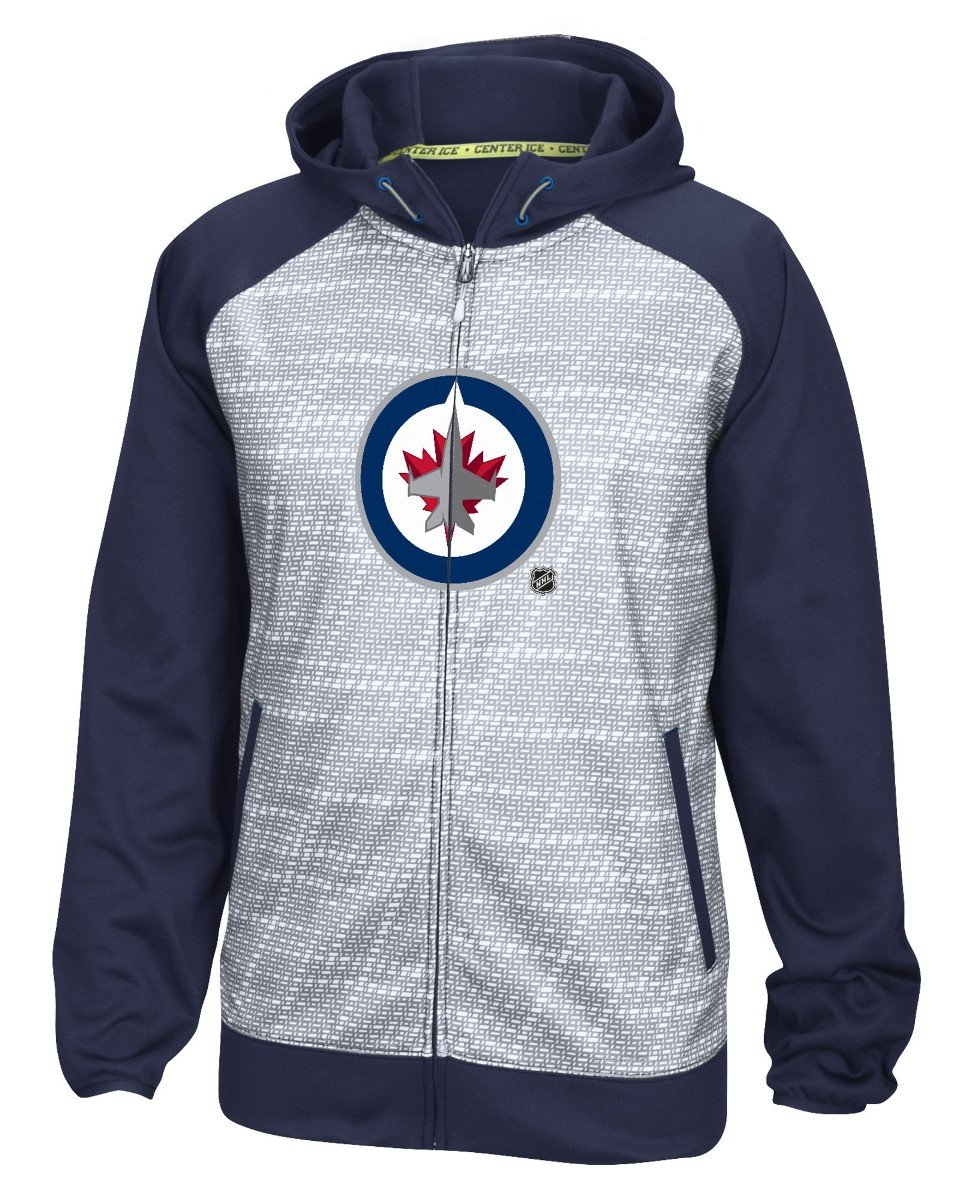 Winnipeg Jets Reebok NHL 2016 Center Ice Speedwick Full Zip Sweatshirt
