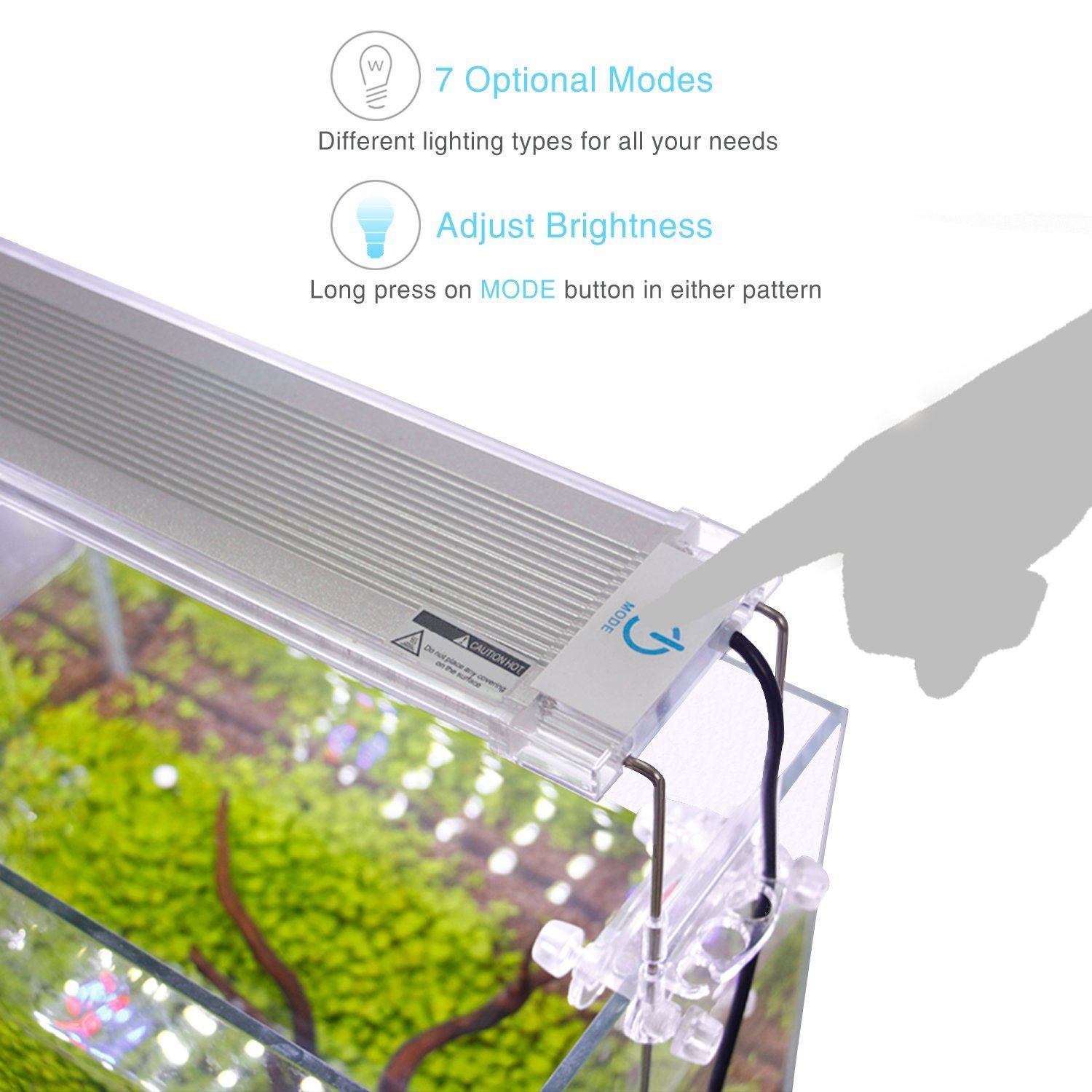Size 36 to 48 Inch White and Blue LEDs Dimmable Fish Tank Light with 2-Channel Controller High Light Output NICREW ClassicLED G2 Aquarium Light 32 Watts