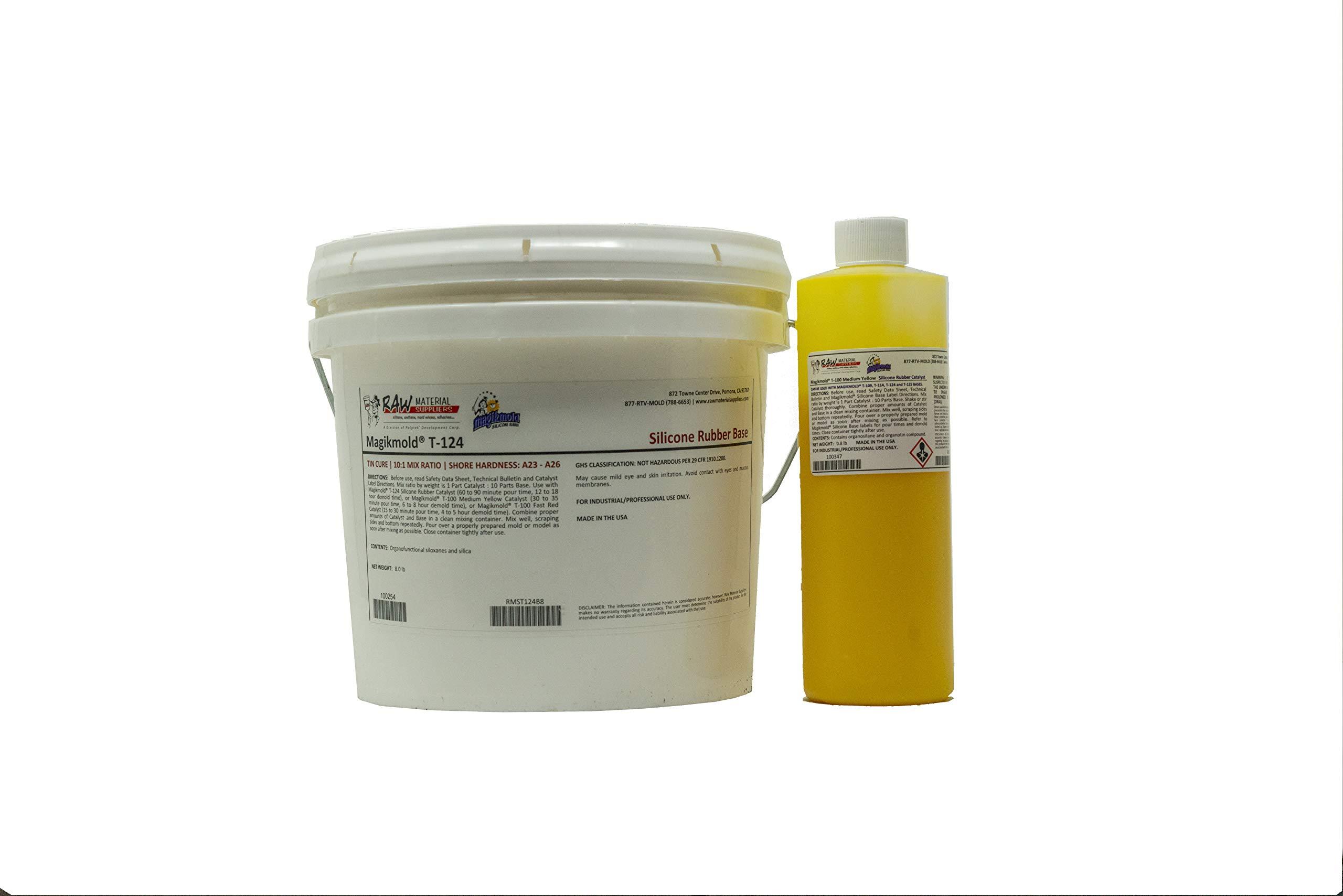 Magikmold T-124 Tin Cure Silicone - 8.8 lb Kit - Yellow Medium Catalyst