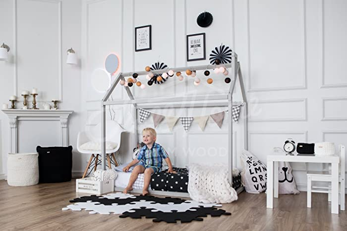 Amazon Com Toddler Bed Play House Bed Frame Children Bed Bunk