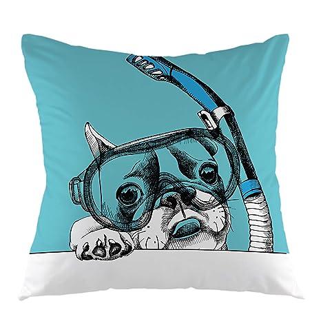Rockboy Juego de Perros Funda de Almohada Bulldog Mascota ...
