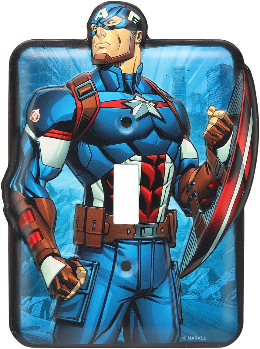 Marvel Captain America Tin Metal Light Switch Plate