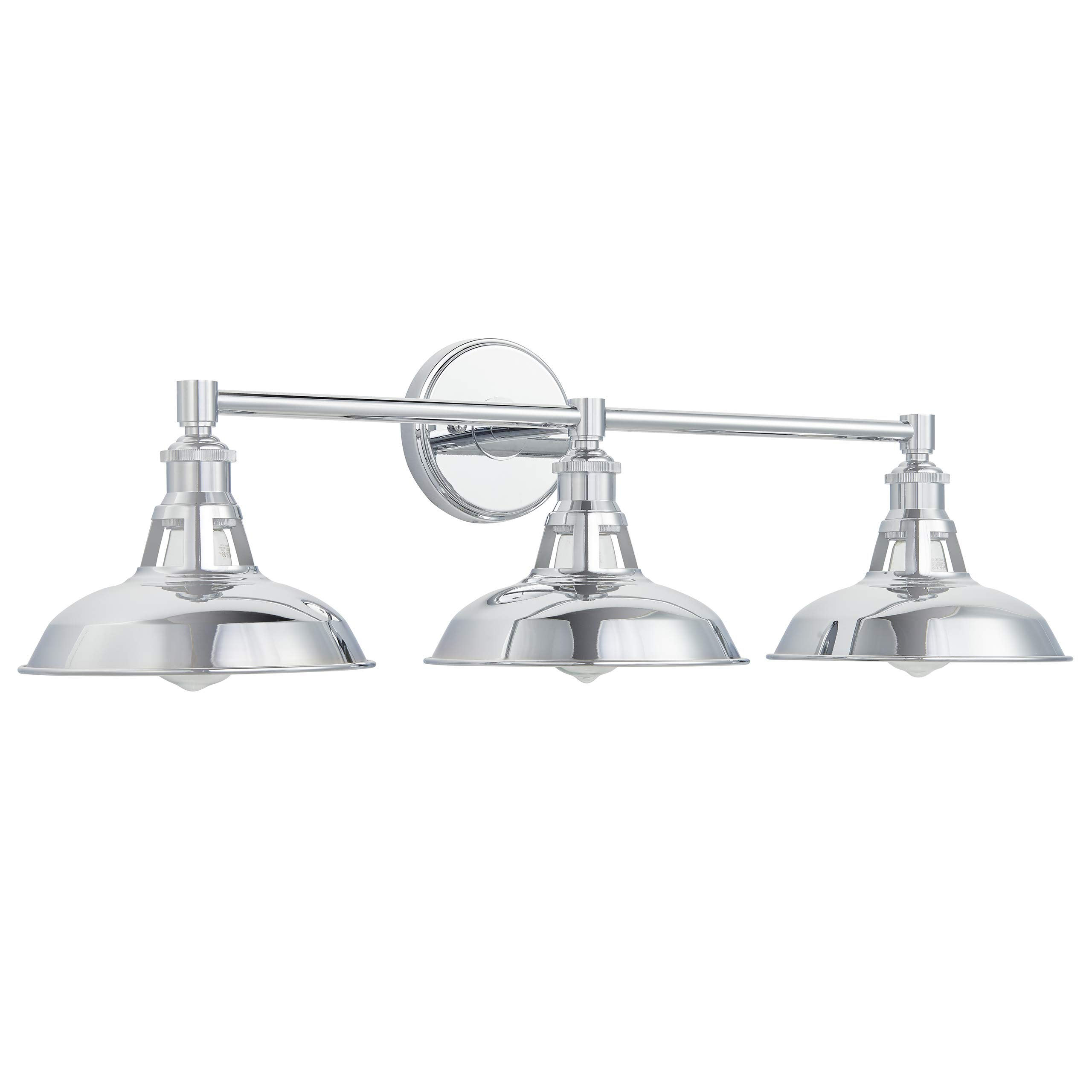 Olivera 3 Light Bathroom Vanity Lights | Chrome Industrial Wall Sconce with LED Bulbs LL-WL883-2PC
