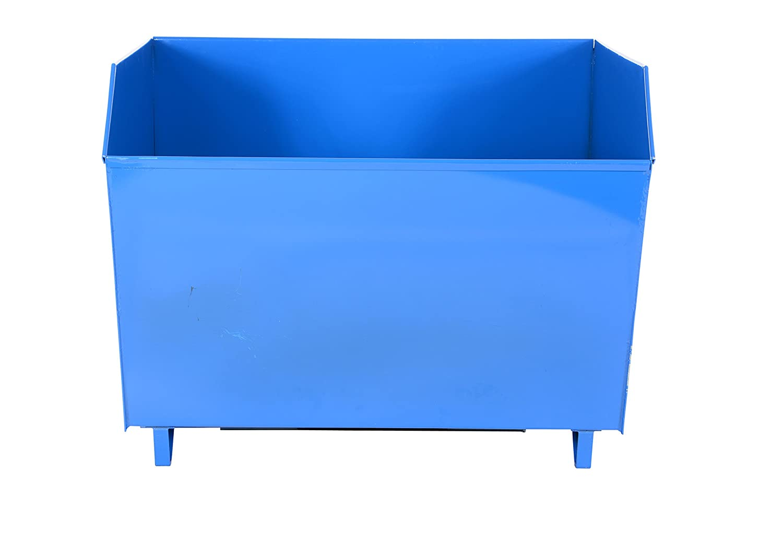 6000-Lb Blue Capacity 51-1//4Lx49Wx41H Vestil Low-Profile Self-Dumping Steel Hoppers