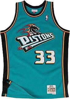 18d0684917d Mitchell   Ness Grant Hill  33 Detroit Pistons 1998-99 Swingman NBA Jersey  Teal