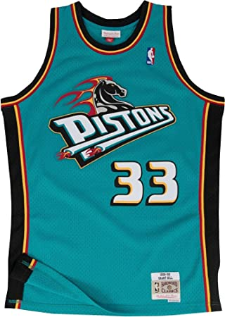 huge selection of 51d6a c6453 Mitchell & Ness Grant Hill #33 Detroit Pistons 1998-99 Swingman NBA Jersey  Teal