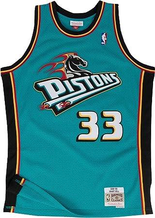 huge selection of e6ca4 da19c Mitchell & Ness Grant Hill #33 Detroit Pistons 1998-99 Swingman NBA Jersey  Teal