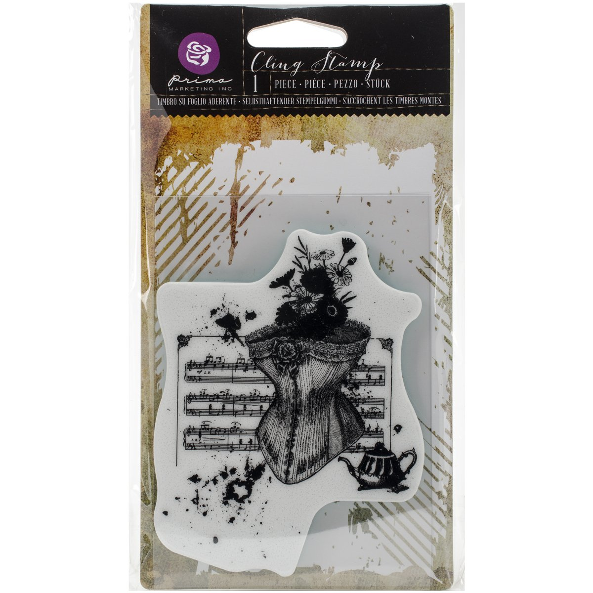 Prima Marketing 580070 Cling Stamp 3.5X5-Victorian