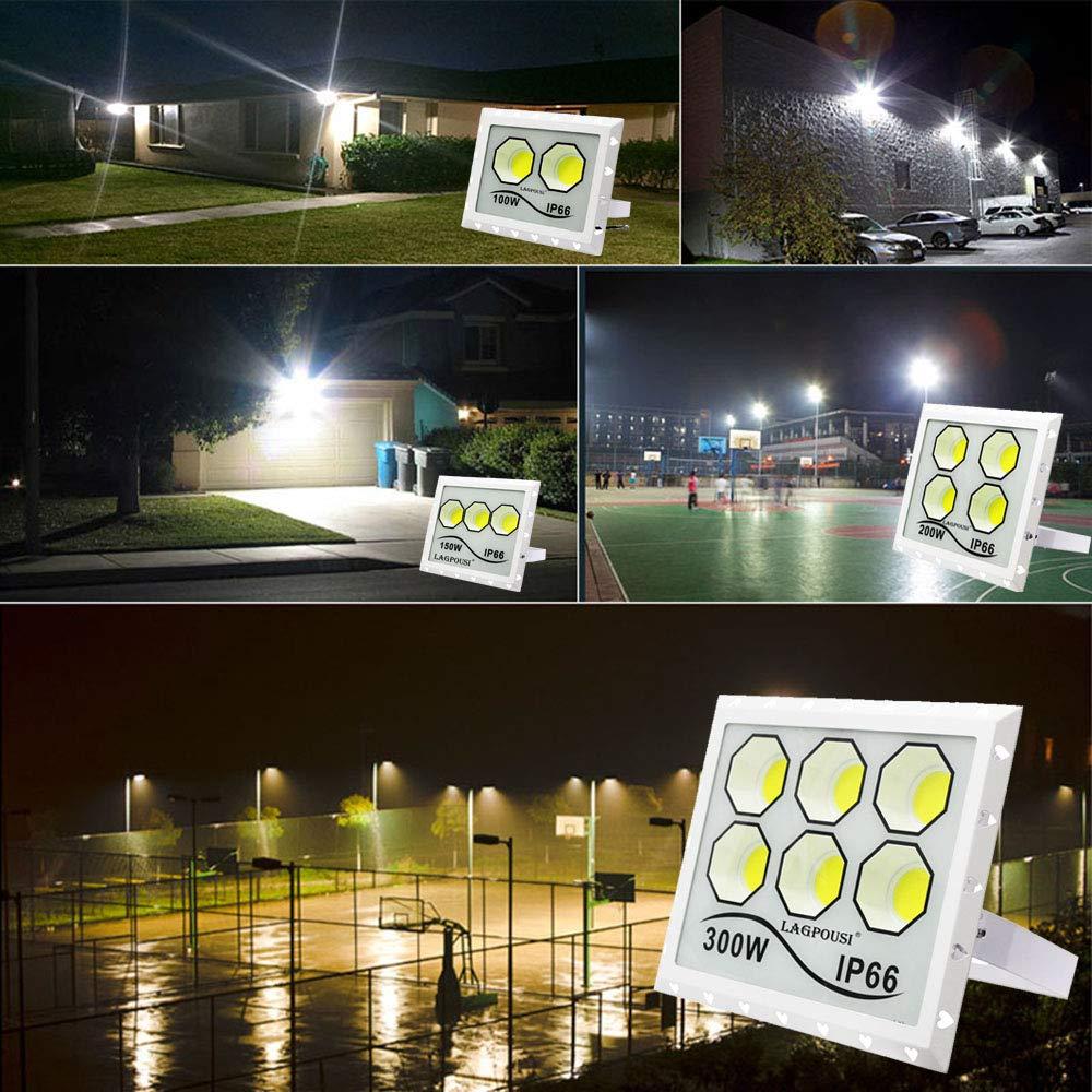 LAGPOUSI - Foco LED para exteriores (IP66, resistente al agua ...