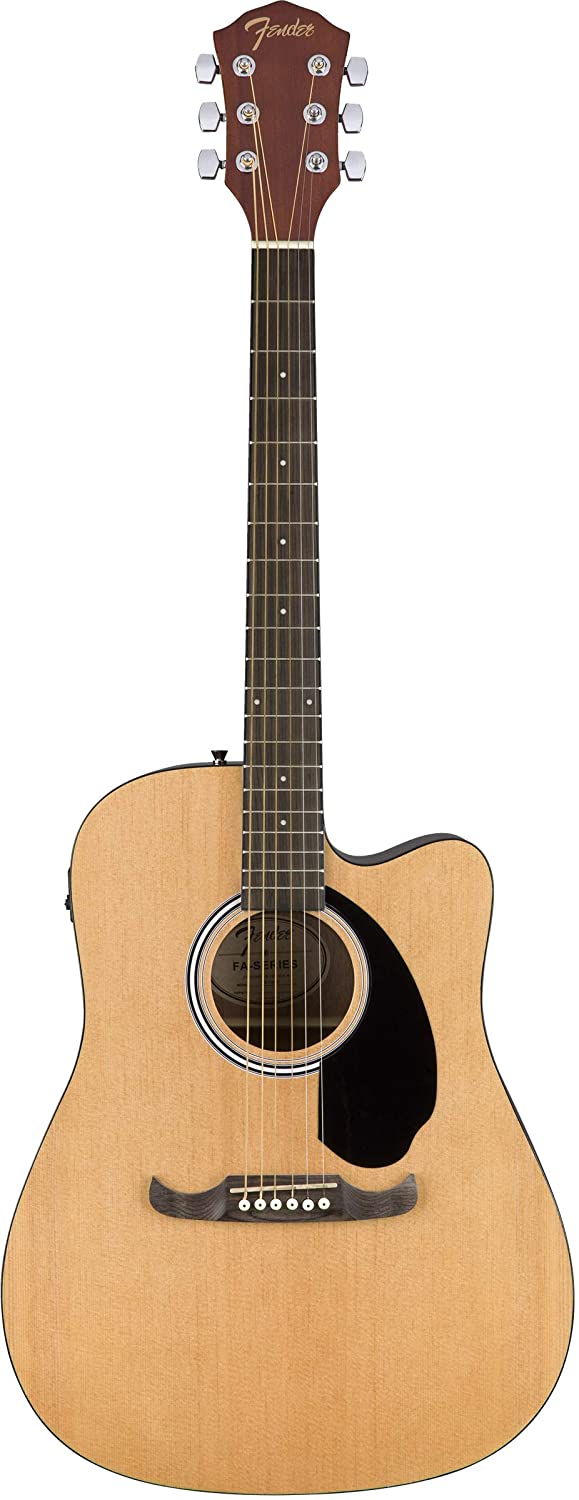 Fender CD-60SCE Dreadnought Acoustic-Electric Guitar - Natural Bundle