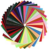 40 Pcs 6 x 6 Inches Craft Felt Fabric Sheets, Assorted Colors Non Woven Felt Sheets, Thick Felt Fabric Square for Kids…