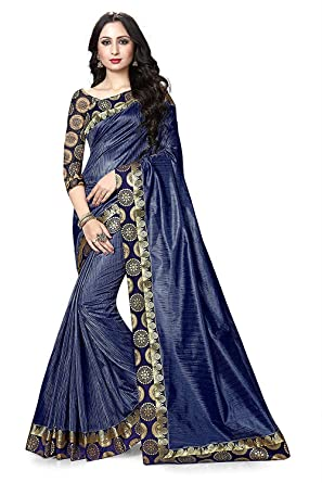 84e0b385af IndoPrimo Women's Party Wear Printed Georgette and Silk Saree With Blouse  Piece (New Fancy Saree