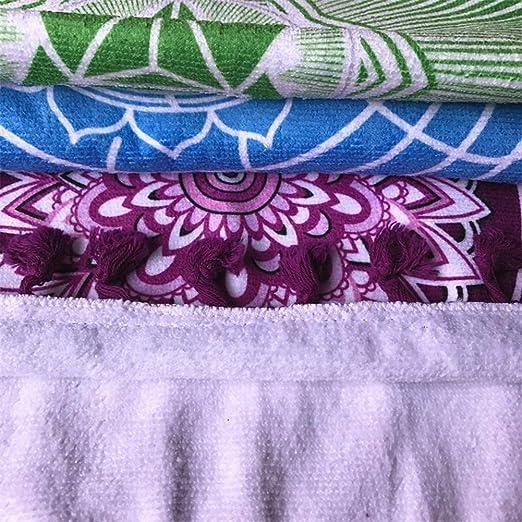 AlgodóN De Tejido De Microfibra De Bohemia India Mandala Playa Manta 7 Chakra  Rainbow Wall Hanging Tapestry Playa Yoga Mat Toalla De BañO Con Flecos f9cef5518669