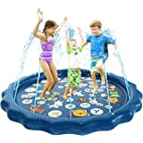 OSVTNI Sprinkler for Kids Water Play Sprinklers - Outdoor Water Mat Toys Inflatable Water Toys Outside Toys Water Toys for To