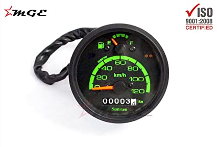 Vespa LML NV Scooter Speedometer Assembly Green 0-120 Km/h 80mm