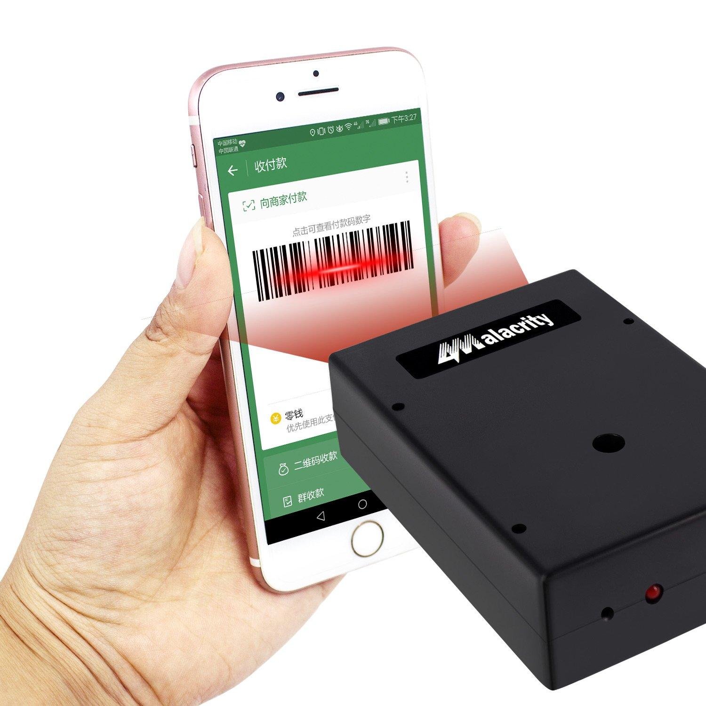 USB sans fil Lecteur de codes-barres, 2.4GHz Handheld automatique Laser Barcode Scanner lecteur avec ré cepteur USB de stockage jusqu'au Code de 5000 2090 CCD Alacrity