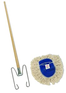 Rubbermaid Commercial FGU13067WH00 3-Piece Kut-A-Way Wedge Mop Kit, White
