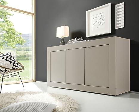 Credenza Moderna Color Tortora : Mobile ante l tortora opaco moderno soggiorno amazon