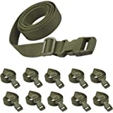 XTACER 78'x1' Molle Backpack Accessory Strap Luggage Straps Cover Strap Sleeping Bag Strap with Buckle