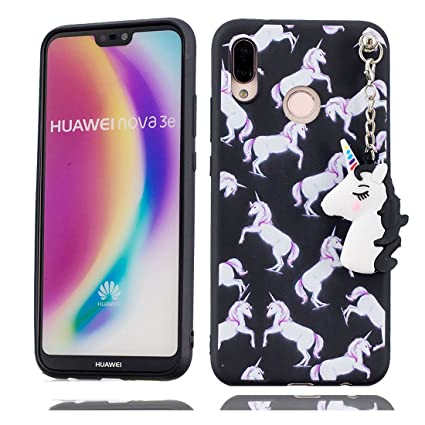 Amazon.com: MZBaoLingMeiDongUS Huawei P20 Lite Case, Unicorn ...