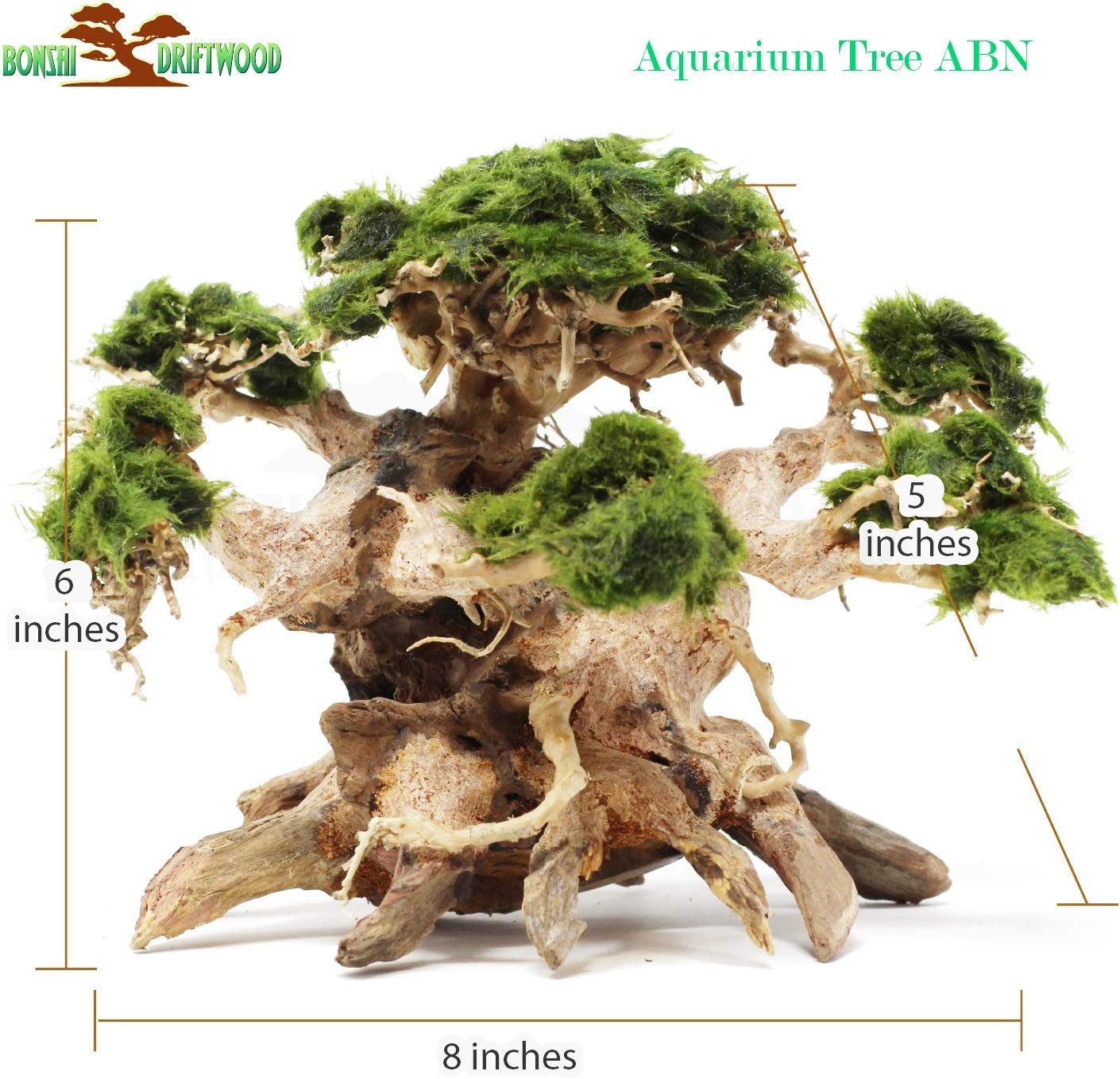 Bonsai Driftwood Aquarium Tree Abn 6 Inch Height Natural Handcrafted Fish Tank Decoration Helps Balance Water Ph Levels Stabilizes Environments Easy To Install Amazon Com Grocery Gourmet Food