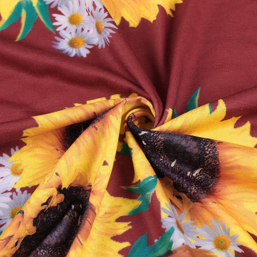 Womens Summer V Neck Floral Print Short Sleeve Sundress Flowy Boho Beach Long Dress Vedolay Dress for Women Casual