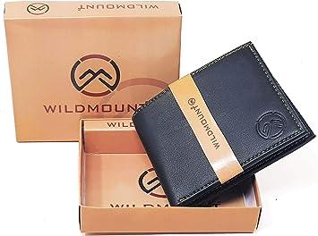 wildmount Men's Leather 5 Card Slots Wallet  Black  Wallets
