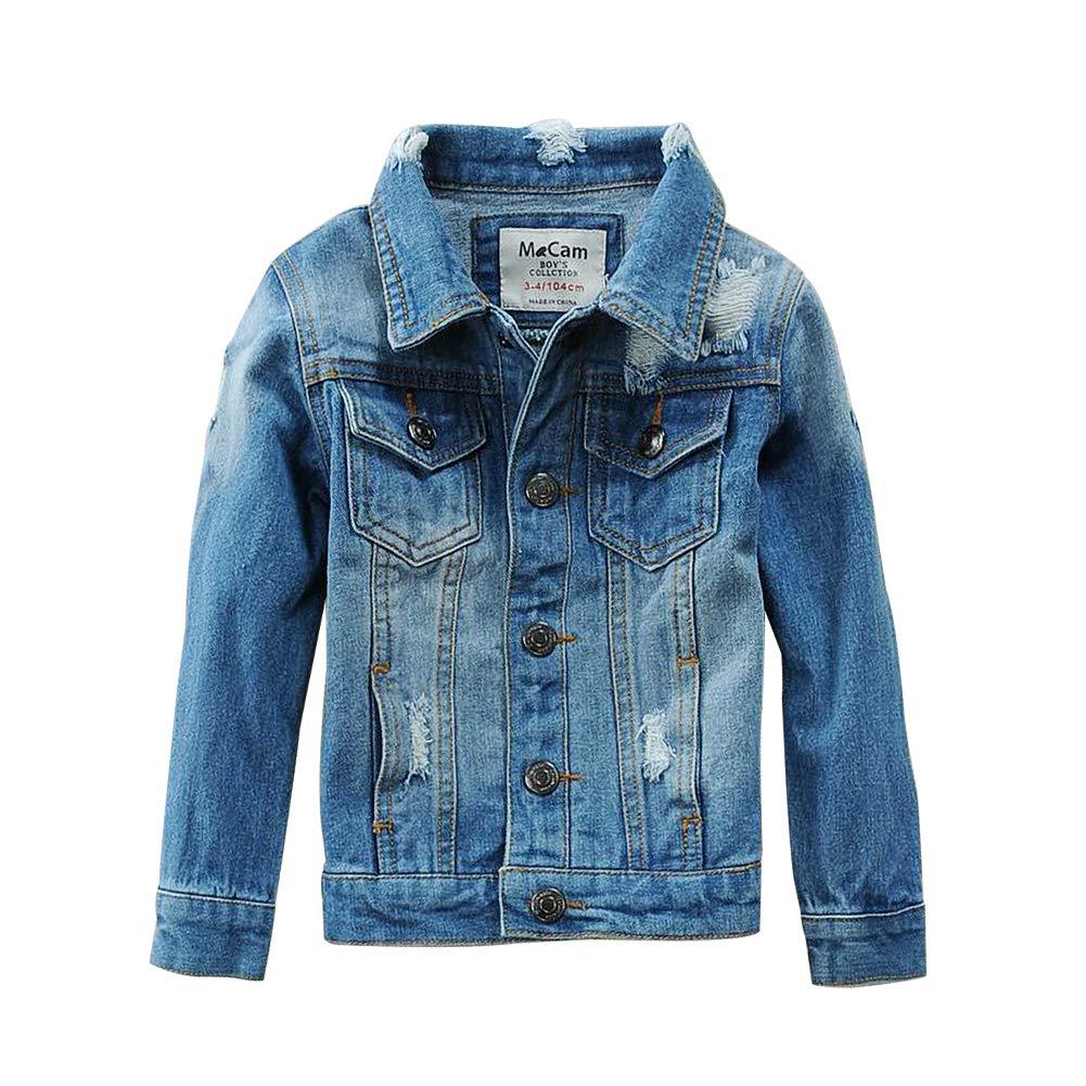 SITENG Boys Kids Denim Fall Ripped Jean Jacket Coat ...