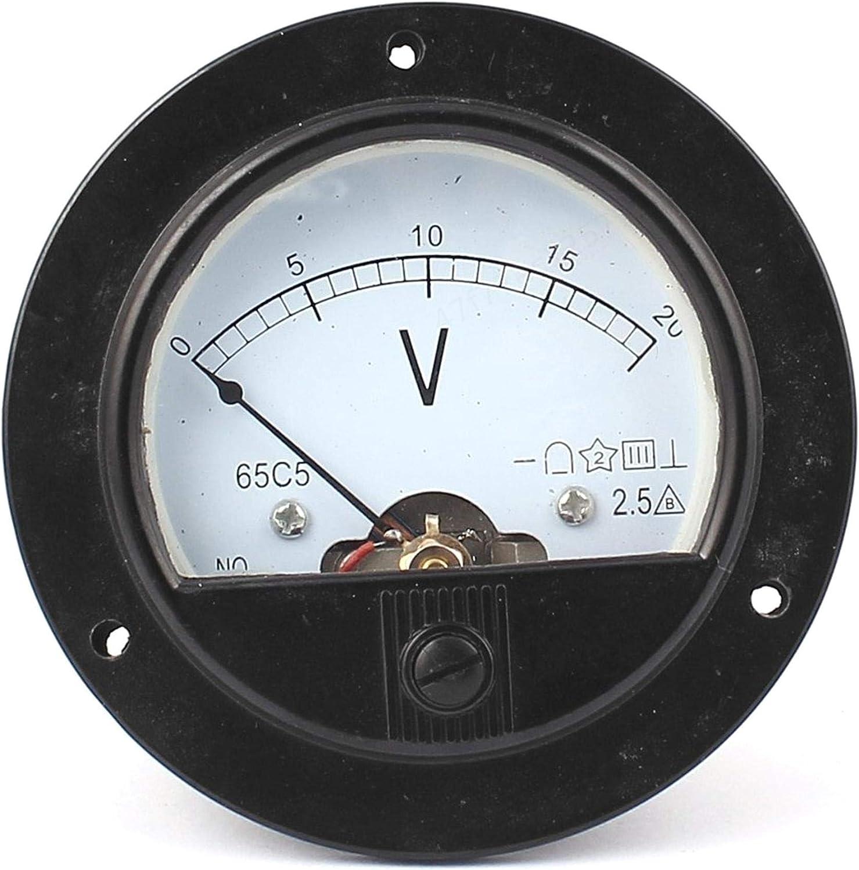 Zxyan Voltmeter Analog Dc 0 20v Analog Panel Meter Volt Spannung Schwarz Farbanzeige Analog Voltmeter Küche Haushalt