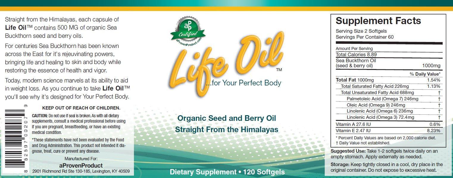 Life Oil (Tm) Sea Buckthorn