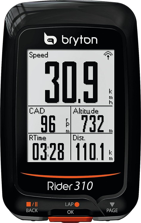 Bryton Rider 310T Ordenador de Ciclismo con GPS, Unisex, Negro ...