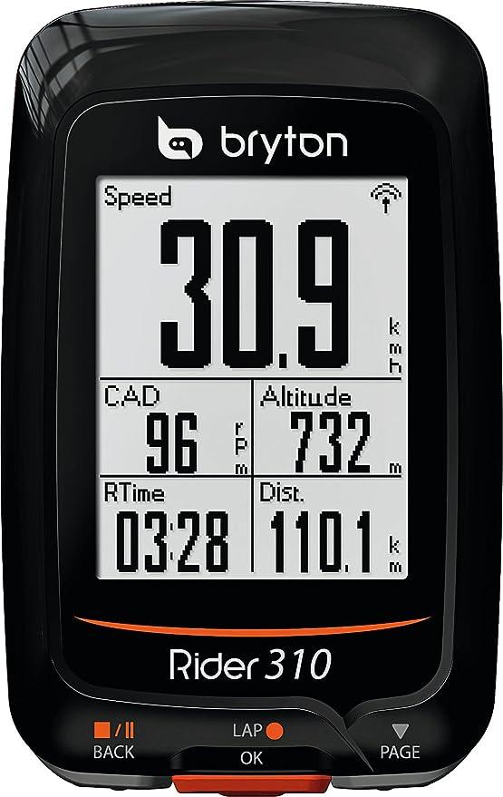 Bryton Rider 310T Ordenador de Ciclismo con GPS, Unisex ...