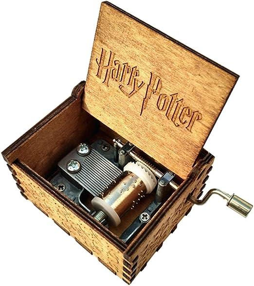 Grabado de madera manivela Caja de música – Harry Potter: Amazon ...