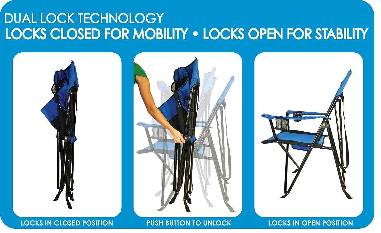 Amazon Com Kijaro Dual Lock Folding Chair Xx Large Cayman Blue Iguana Sports Outdoors