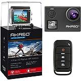 AKASO V50 Real 4K/30fps 20MP Action Cam WiFi Action Kamera mit Bildstabilisierung, Ultra HD 30m Unterwasserkamera mit Fernbedienung, 170°Weitwinkel, 2 wiederaufladbare Batterien und Montagezubehör Kit