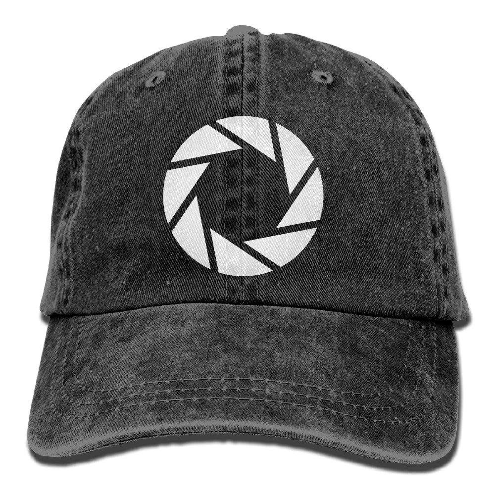 Female Retro Washed Dyed Cotton Adjustable Denim Cap Camera Aperture Shutter Photography Dad Hat