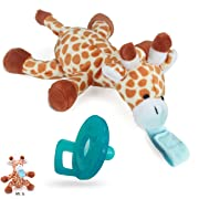 Soothie Pacifier, UDS Pacifier Clip with Detachable Soft Stuffed Animal as Pacifier Holder for Baby (Giraffe)