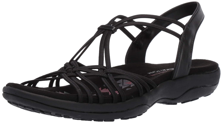 Schwarz(schwarz Blk) Skechers Damen Reggae Slim-Slip Spliced Slingback Sandalen