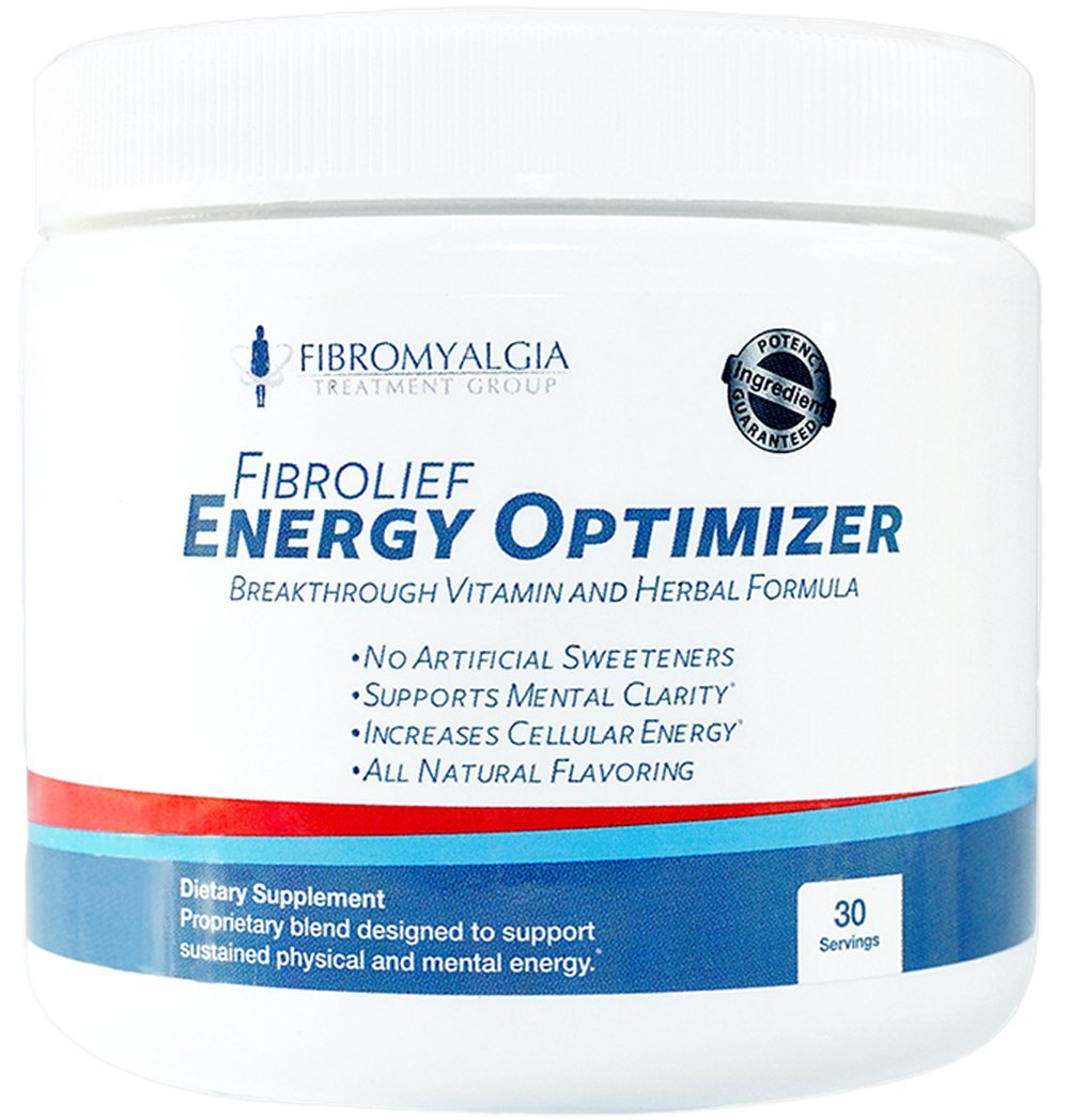All-Natural Energy Optimizer Supplement Powder - Absorbs Fast - Safe for Fibromyalgia - Fibromyalgia and Rheumatoid Arthritis Support - One Month Supply