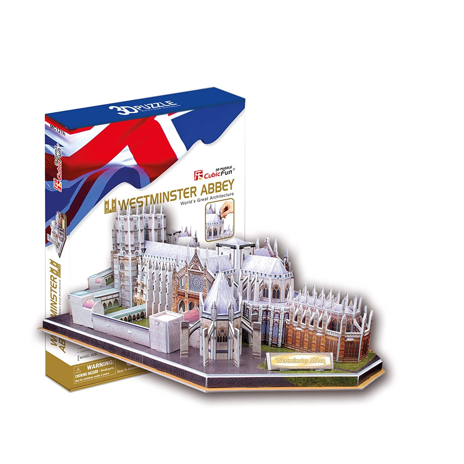 Westminster Abbey with Booklet, 145 Piece 3D Jigsaw Puzzle Made by CubicFun Cubic Fun MC121H