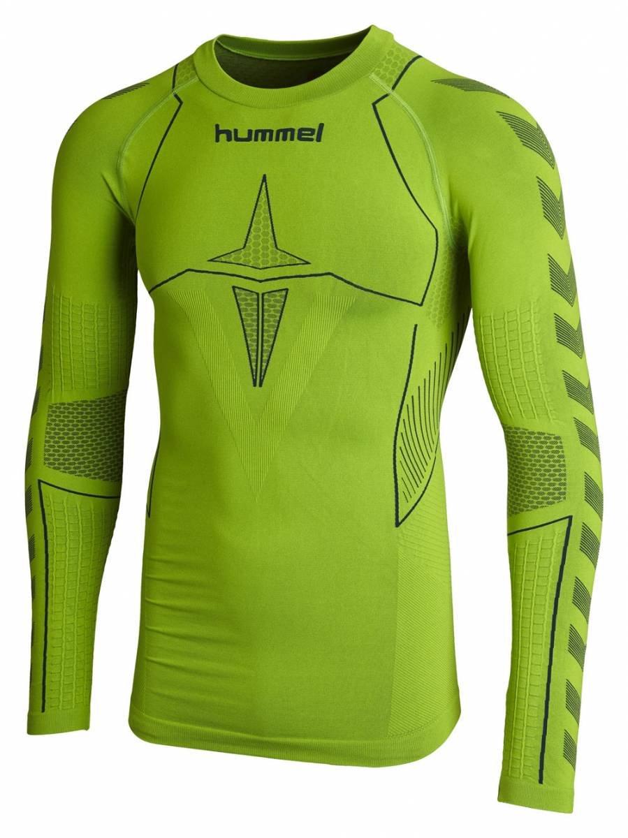 0831e8cd55e Hummel men's long sleeve functional shirt hero baselayer, Men, Baselayer Jersey  Hero Men Long Sleeve, Green Gecko/Legion Blue, XL/XXL: Amazon.co.uk: Sports  ...