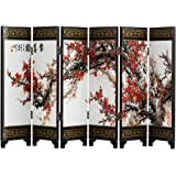TJ Global 6-Panel Traditional Chinese Art for Home Decoration - Decorative Lacquerware, Home Decor, Lacquer, Oriental, Mini D