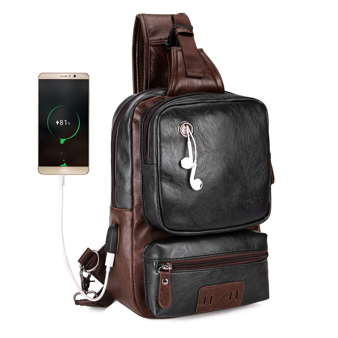acd8942c86 VICUNA POLO Men Sling Backpack External USB Charge Men Crossbody Bag Large  Capacity Casual Travel Man