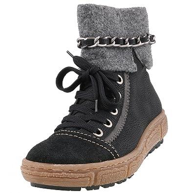 Rieker Women S Z7978 00 Boots Black Schwarz Fumo Granit 6 5 Black