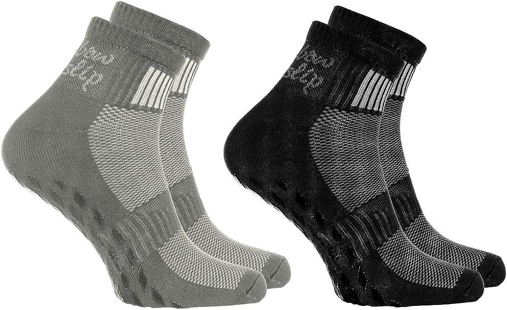 Rainbow Socks - Hombre Mujer Deporte Calcetines Antideslizantes ABS de Algodón