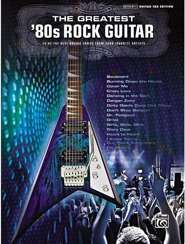 Alfred el mayor de los 80 Rock Guitar Book: Amazon.es ...